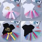 Newborn Infant Baby Girl Princess 1st Birthday Dress Tutu Skirt Bodysuit Outfit