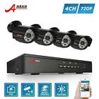 HD 4CH 720P PoE Security System CCTV IP Outdoor Camera 48IR Network NVR 1TB HDD