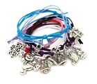 Variety Christmas Charm Friendship Cord  Bracelet Perfect For Christmas