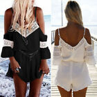Summer Womens Holiday Casual Mini Playsuit Ladies Jumpsuit Beach Shorts Rompers