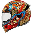 Icon Adult Racing Airframe Pro Barong Red Motorcycle Helmet XS-3XL