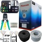 305M RJ45 Cat6 Cat5e Ethernet Network Cable Roll OUTDOOR FTP UTP 23AWG Gigabit