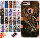 For Apple iPhone 8 & 8 PLUS IMPACT TUFF HYBRID Protector Case Skin Phone Cover