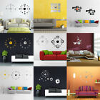 3D DIY Wall Clock Modern Creative Mirror Acrylic Home Office Decoration Stickers
