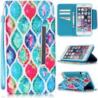 Wallet Flip Card Holder Leather Phone Case Cover For Apple iPhone Samsung Galaxy