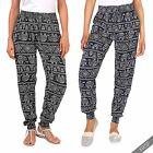 Womens Ladies Casual Comfy High Waisted Harem Trousers Beach Festival Pants US