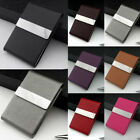 Stainless Steel PU Leather Credit ID Business Card Holder Pocket Case Wallet UK