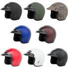 Adult GMAX GM2 Open Face Helmet Motrocycle ATV Chopper Scooter DOT Approved