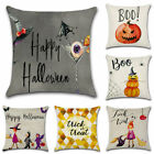 Halloween Pattern Cotton Linen Pillow Case Cushion Cover for Home Couch Car Sofa