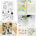Mermaid Xmas Transparent Silicone Clear Rubber Stamp Sheet Scrapbooking DIY