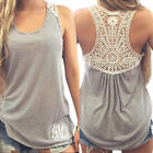 Women Summer Lace Vest Top Sleeveless Blouse Casual Tank Tops T-Shirt Backless