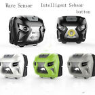 LED Headlamp Motion Sensor Headlight 3500 Lumen USB Rechargeable Head Flashlight