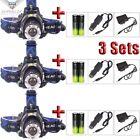Rechargeable 30000Lm T6 LED Zoomable Headlamp Head-lamp Flashlight+Charger+18650