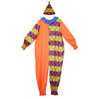 Funny Comedy Circus Clown Costume Halloween Harlequin Jester Adult Fancy Dress