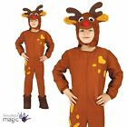 Boys Child Christmas Xmas Festive Reindeer Fancy Dress Costume Nativity Jumpsuit