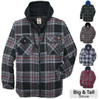 Big & Tall Dickies Hoodie Flannel Zip Jacket Quilted Lining 2XL - 4XL 2XLT 3XLT