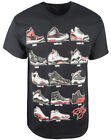 Authentic Classics Retro Kicks T-Shirt Mens Black Red image