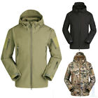 Mens Camouflage Army Military Tactical Jacket Soft Shell Hunting Coat Waterproof