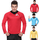 Gents Star Trek Shirt Fancy Dress Scotty Kirk Spock Sci Fi Mens Costume Outfit on eBay