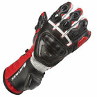 SPADA CURVE RED BLACK LEATHER RACE STYLED MOTORCYCLE SPORTS BIKE GLOVES
