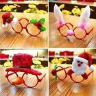 Christmas Ornaments Glasses Frames Xmas Decor Evening Party Toy Kids Rabbit Gift
