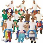 Mens Adults Novelty Piggy Back Fancy Dress Costume Outfit Stag Night Funny Xmas
