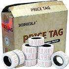 10 Rolls Price Label Paper Tag Sticker MX5500 Labeller Gun White Red Line