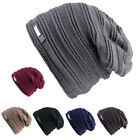 Mens Womens Unisex Oversized Winter Warm Knit Baggy Beanie Ski Hat Cap Skull AY