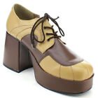"Funtasma Men's JAZZ-06 3 1/2"" Block Heel 1 1/2"" Platform Two Tone Oxford Shoes"