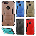 For ZTE Blade Z Max HYBRID KICK STAND Rubber Case Phone Cover Accessory