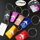 Premium Aluminium Travel Baggage Suitcase Luggage Tag Label Holder w/ Steel Loop