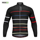 Mens Long Sleeve Cycling Jersey Quick dry Bike Coat Breathable Bicycle Tops