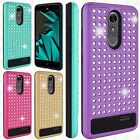 For ZTE Blade Spark 4G Hybrid IMPACT Diamond Layered Case Cover +Screen Guard