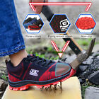 Men's Fashion Safety Shoes Steel Toe Breathable Work Boots Hiking Climbing Shoes