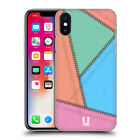 HEAD CASE DESIGNS PATCHED UP LEATHER DESIGN COLLECTION CASE FOR APPLE iPHONE X