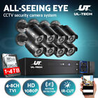 UL-TECH CCTV Security Camera 1080P HDMI 4CH 8CH DVR Video Home Outdoor IP System