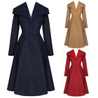 Hell Bunny Coleen Chic Retro Vintage 1950s Smart Formal Plus Size Winter Coat