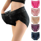 Women Lingerie Lace Cotton High Waist Panties Underwear Briefs Plus Size Ladies