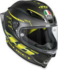 AGV Adult Motorcycle Full Face Pista Carbon Black Helmet Clear Shield S-2XL