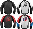 Icon Hypersport Leather Motorcycle Riding Jacket Mens All Sizes All Colors
