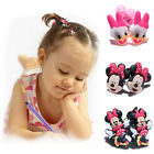 2pcs Disney Mickey Minnie Mouse PVC Hair Ties Rope Elastic Hair Bands Girl Gift