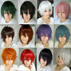Fashion Straight Short Full Wigs Cosplay Party Hair Wig adjustable cosplay wig