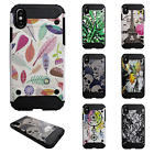 For Apple iPhone X IMPACT HYBRID Hard Protector Case Skin Cover + Screen Guard