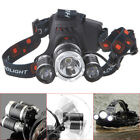 8000LM Zoomable 3 LED USB Rechargeable&18650 Batteries Headlamp Torch Head Light