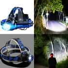 5000LM Q5 Rechargeable 3 Modes Zoomable LED Headlight Headlamp Torch Aluminum