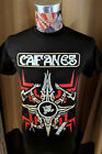 BRAND NEW CAIFANES MEXICAN ROCK BAND FOUR-POINTED WARRIOR LOGO ON BLACK T SHIRT image