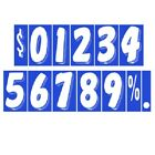 7 1/2 Inch White & Blue Numbers Car Dealer Windshield Pricing Stickers You Pick