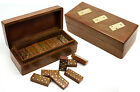 Personalised Dominoes Game Set with Matching Rosewood Storage Box, Engraved