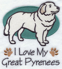 PERSONALISED FLEECE DOG BLANKET CRATE/BED/PUPPY VARIOUS COLOURS Great Pyrenees