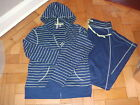 LADIES BODY BLEU 2 PC LOUNGEWEAR SET HOODIE ZIP FRONT LONG BOTTOMS NAVY SML BNIP